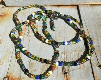 Multicolored seed beads #2 long...
