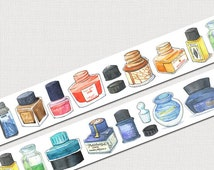 Fountain Pen Ink Washi Scrapbooking Planner MT Tape! Cute, colorful and awesome!