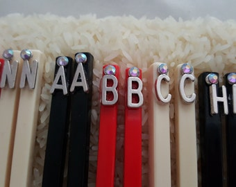 Personalized Chopsticks ~ Monogrammed Gifts ~ Custom Chop Sticks ~ Birthday Gifts ~ Party Favors ~ Hostess Gifts ~ Mother's Day Gifts ~