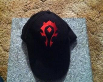 Horde crest hat.