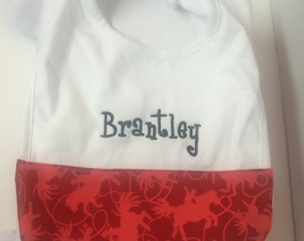 Custom Baby Bib with Name Style 3