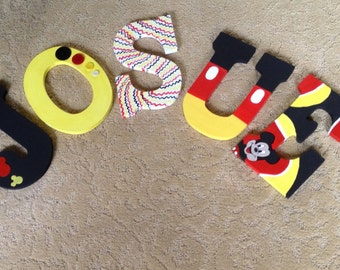 Mickey Mouse Nursery Painted Letter