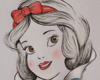 A3 Disney's Snow white in pastels