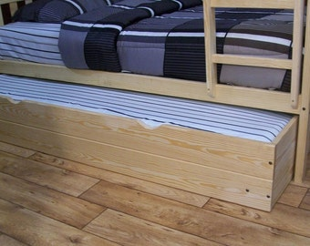 Trundle Bed for Twin or Full Bunk Bed