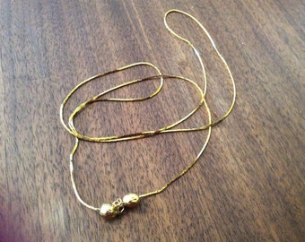 """Gold-Filled 28"""" Chain with 2 Gold-Filled Balls"""