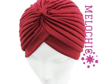Burgundy Turban Hat, Chemo Hat, Hair Loss Hat, Head Wrap, Women Turban Hat, Fashion Turban Hat, angelofzionTurban Hats, Turban, Hats