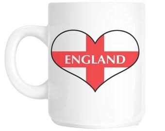 I Love Heart England Flag Design Gift Mug shan65
