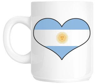 I Love Heart Argentina Flag Design Gift Mug shan61