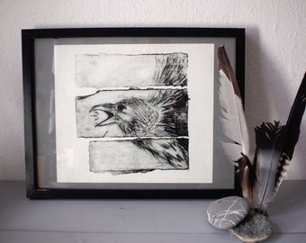 Original Etching - Crow - original artwork, limited edition