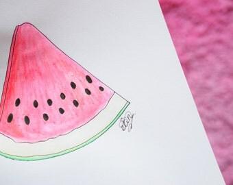 Watermelon Painting (HANDMADE)