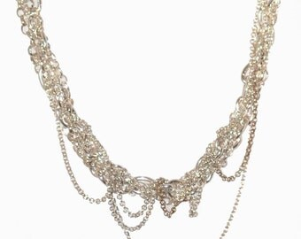 Chain Reaction - Multi Chain Silver Necklace