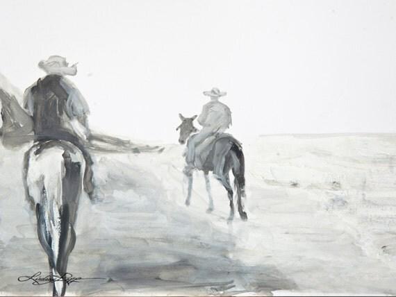 Horseback - Print