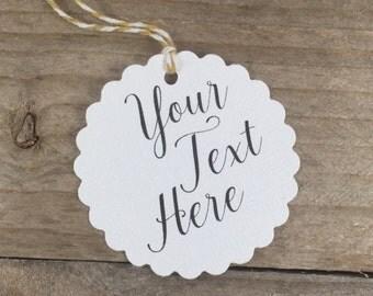 25 Custom Wedding Favor Tags