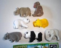 Kinder Surprise Set - Natoons Wild Animals Babys Felt - Complete Series Vintage Figures Figurines Toys Eggs Miniatures Collectibles