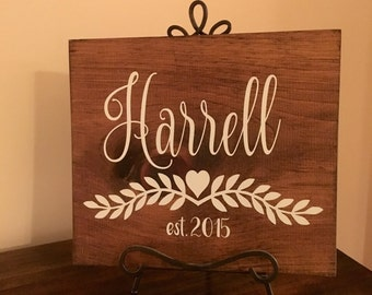 Family Name Sign - Custom Made Last Name Wooden Sign