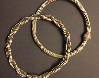Vintage Silver Wire Bangles Set