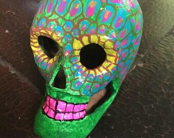 calavera paper mache skull - day of the dead - Vivora - Snake