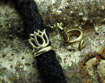 Lotus Flower Dreadlock Bead / Ring