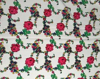 Polish folk floral printed fabric