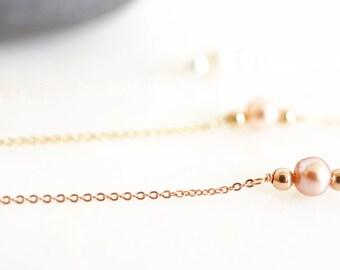 Single Pearl Dainty Bracelet, Freshwater Pearl Bracelet, Bridesmaids Bracelet, Lovely Pearl Bracelet, Dainty Perl Link Bracelet