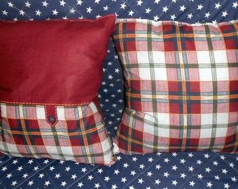 pillows, cushion, set of two pillows square print