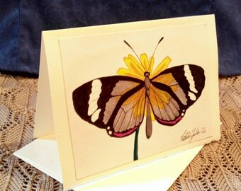 Hand painted blank card