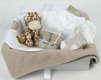 Neutral bed time pals baby gift hamper