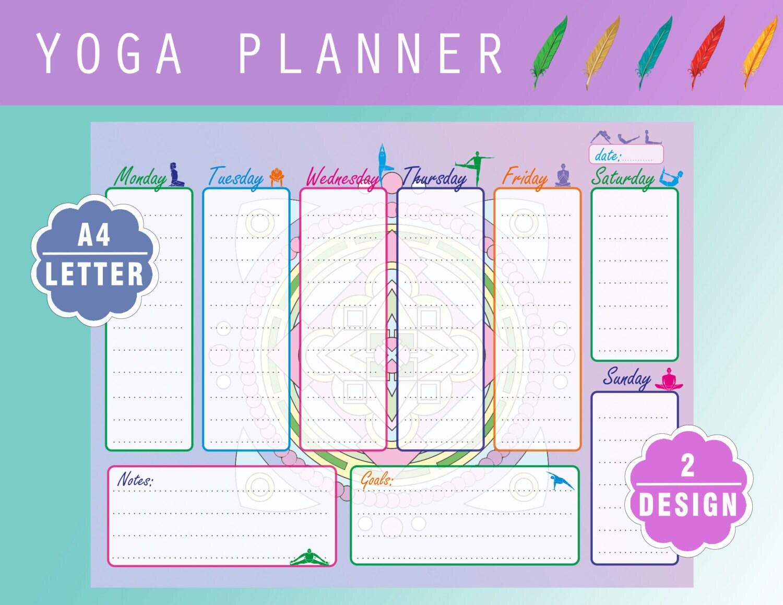 Printable Fitness Week Planner Sport Printable pdf