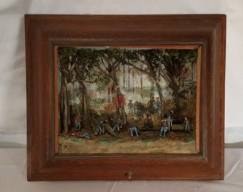 Civil War Scene vintage replica