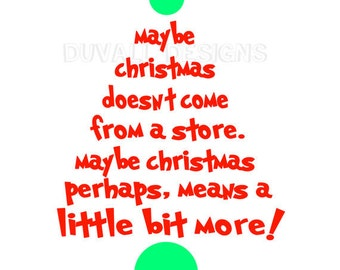 Grinch Tree Christmas Doesnt Come from a Store SVG File