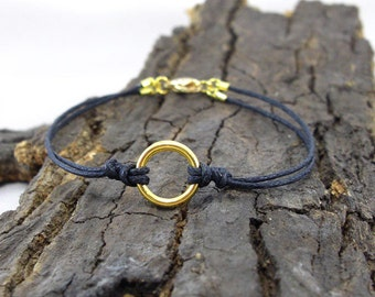 Bracelet Karma gold love ring
