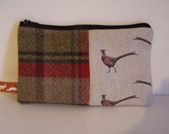 Flohr and Co Pheasant and tweed wash bag