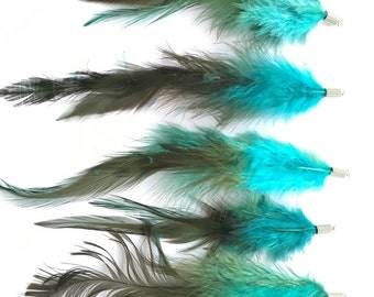 Feather charms 10 - 14 cm - Prettypretty Beads UK