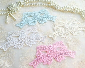 Shabby Chic Appliques-Mix Bows Appliques,Venice Appliques/NA0005/Great for your Sewing,Scrapbook Layout,Wall Hanging,Altered Box,Bag