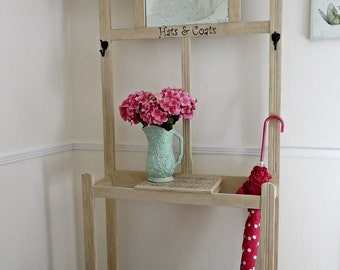 Vintage upcycled, re-loved hallstand, coat-stand, hall tree, umbrella stand