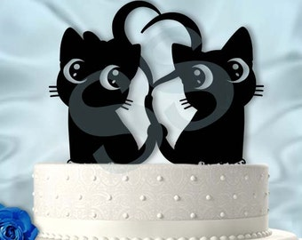 black cat wedding cake toppers black cats wedding cake topper made to order 11859