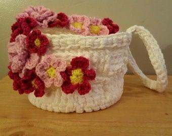 flowered Easter baskets
