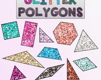 Glitter Polygon Graphics