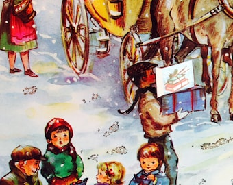 Picture Advent Calendar / German Advent / made in Germany/ (pic#2) /vintage / vintage Christmas / Advent Calendars/ nostalgic advent