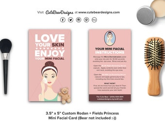 Rodan and Fields Mini Facial cards / Instructions at back /