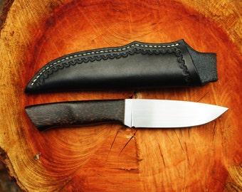 Custom Knife - Handmade - Stabilized Black Palm