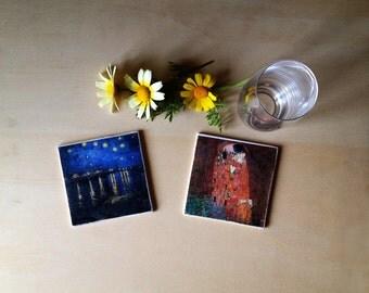 Coasters-Klimt and Van Gogh