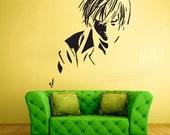 rvz1727 Wall Decal Sticker Anime Manga Girl Nursery Final Fantasy Hero Face featured image