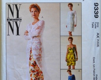 Uncut 1990s McCall's Vintage Sewing Pattern 9339, Size 4/6/8