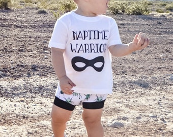 Naptime Warrior/ Superhero/ Baby/ Toddler Tee/ Bodysuit