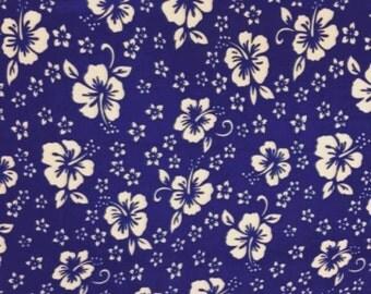 Royal Hawaiian Florals Fleece Fabric Style# PT 171 By The Yard