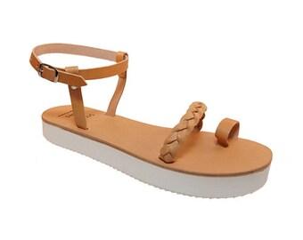 Lamda leather sandals