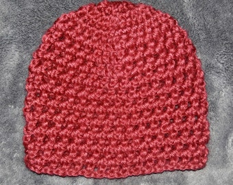 Red Crocheted Baby Hat