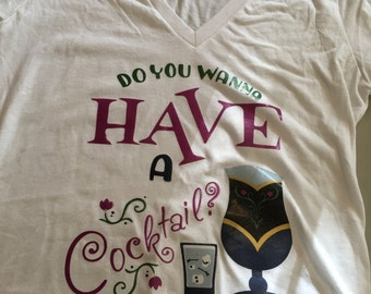 Disney food and wine shirt