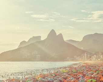 Brazil, Rio de Janeiro, Ipanema beach, ocean view, Brazil photography, large wall art print, fine art #040